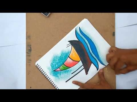 How To Draw A Boat. Pastel Colour Drawing For Children's. - YouTube  Drawing For Kids, Colorful Drawings, Oil Pastel Art