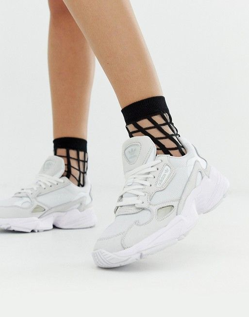 adidas Originals triple white Falcon sneakers | ASOS ...
