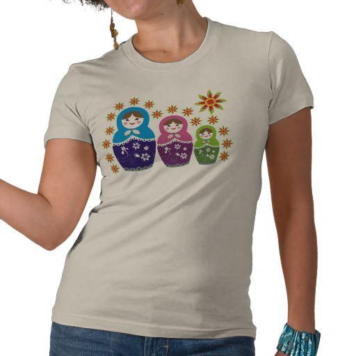 Russian Matryoshka Doll T-shirts