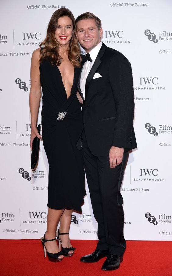 Pin for Later: That's a Wrap! See All the Stars Who Ditched Hollywood For the London Film Festival Charlie Webster and Allen Leech Charlie donned a plunging neckline for the IWC Gala Dinner, giving Allen Leech a good reason to smile.