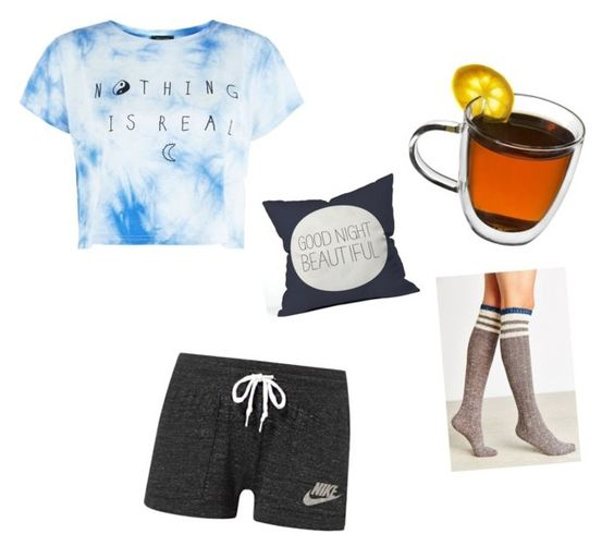 """""""gn"""" by specialtj ❤ liked on Polyvore featuring NIKE and DENY Designs"""