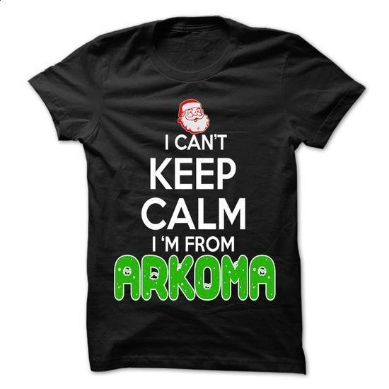 Keep Calm Arkoma... Christmas Time - 99 Cool City Shirt ! - #christmas gift #funny hoodie. ORDER NOW => https://www.sunfrog.com/LifeStyle/Keep-Calm-Arkoma-Christmas-Time--99-Cool-City-Shirt-.html?id=60505