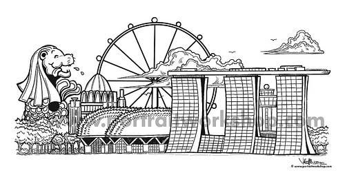 Image Result For Singapore Colouring Pages