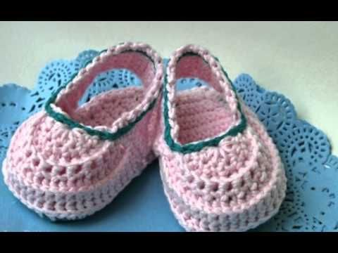 Baby booties crochet patterns by Luz Patterns - YouTube