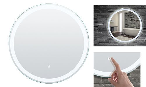 Espejo Led Redondo De Bano De 60 Cm Con Sensor Potencia 220v 15w