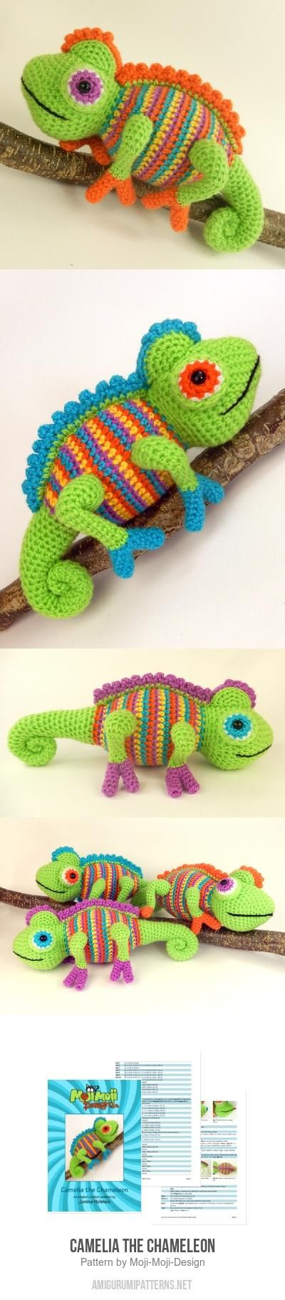 My Hobby Is Crochet: Camelia the Chameleon amigurumi ...