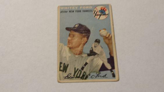 1954 Topps New York Yankees Whitey Ford single baseball card