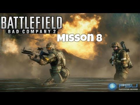 Battlefield Bad Company 2 Gameplay Misson 8 Mission 8 High