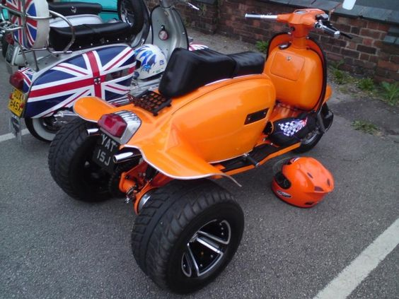 radical lambretta orange