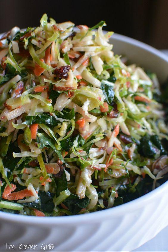 Shredded Brussels Sprout Slaw | Recipe | Pinterest | Kale ...
