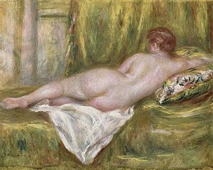 Woman Painting - Rest After The Bath by Pierre Auguste Renoir