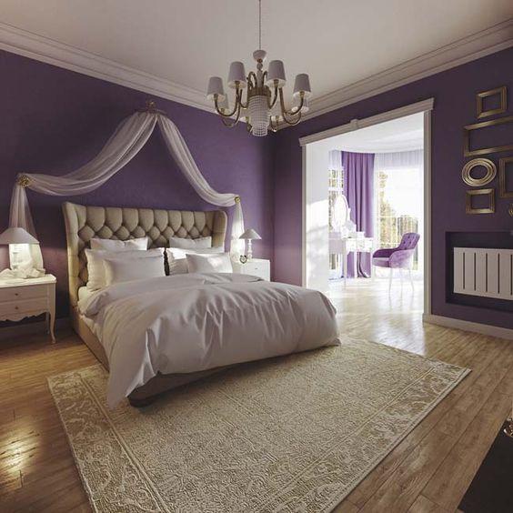 purple bedroom design for girls by artem belousko | interni ... - Interni Ragazze Camera Design