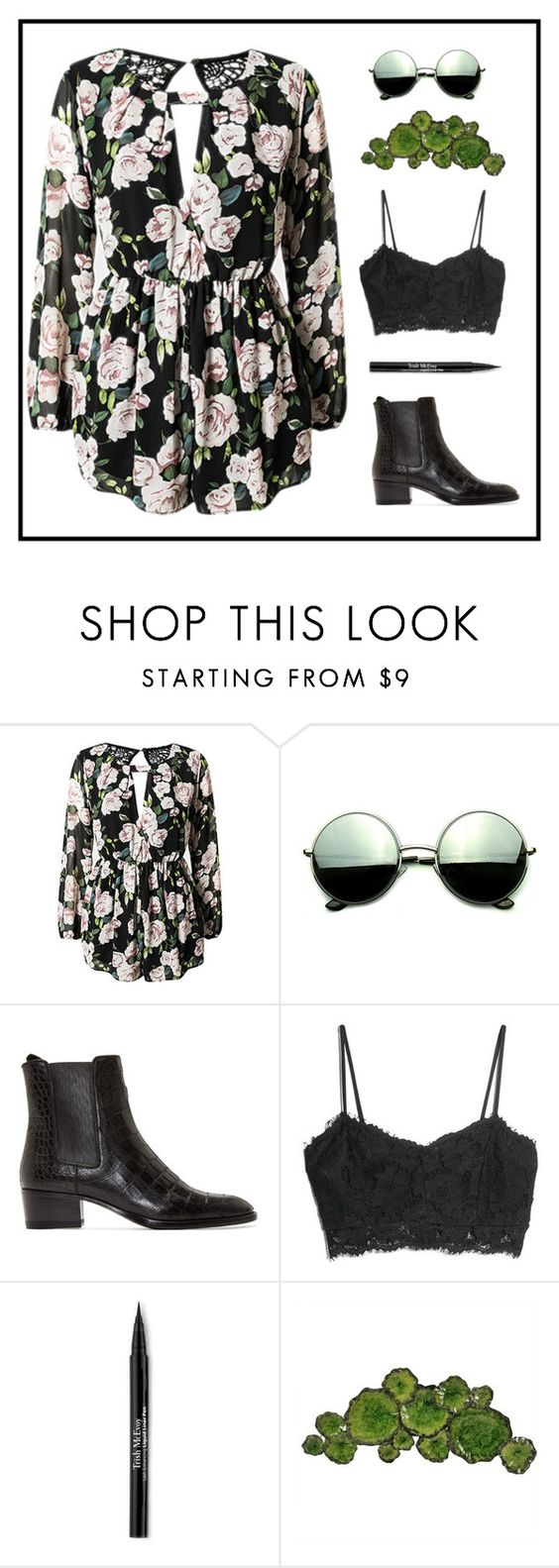 """""""Untitled #646"""" by zirax ❤ liked on Polyvore featuring Revo, Yves Saint Laurent, MANGO, Trish McEvoy and Moe's Home Collection"""