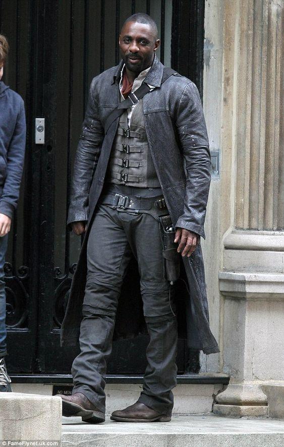 Idris Elba sur le tournage de The Dark Tower