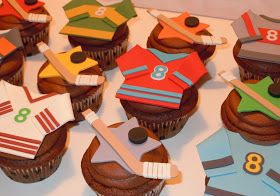 Hockey Jersey Cupcake Toppers for Hockey Cupcakes!