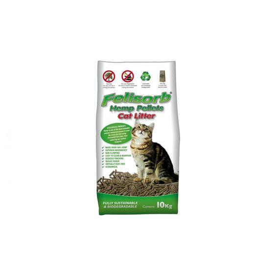Felisorb Hemp Pellet Cat Litter 10kg - $21.82