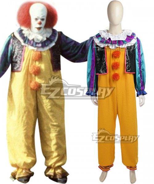 Stephen King/'s It Chapter Two pennywise Joker Cosplay Kostüm Costume Perücke wig