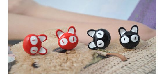 $3.34Pair of Sweet Colored Cat Decorated Earrings
