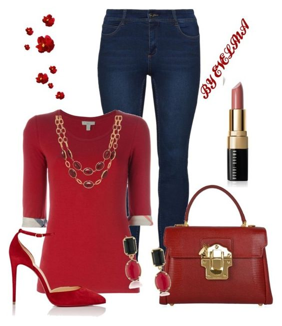 """""""EVE"""" by evelina-er on Polyvore featuring Burberry, Christian Louboutin, Dolce&Gabbana, Talbots, 1st & Gorgeous by Carolee and Bobbi Brown Cosmetics"""