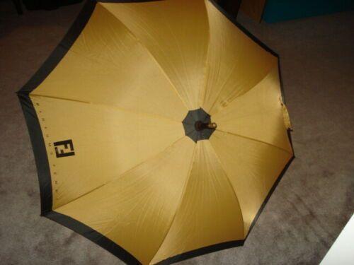 Details About Vintage 1980s Fendi Parfums Zucca Full Size Umbrella Bonus 2 Art Umbrellas In 2020 Ebay Fendi Vintage