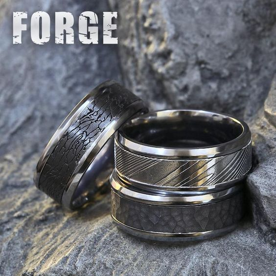 Follow @benchmarkrings to see more content! #forgeretailer #forgewk8  Style #: (L to R) CF128374BKTGTA, CF128814DSGTA & CF128753BKTGTA.