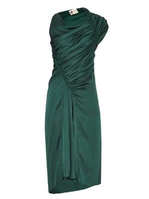 Washed-satin ruched dress | Lanvin | MATCHESFASHION.COM