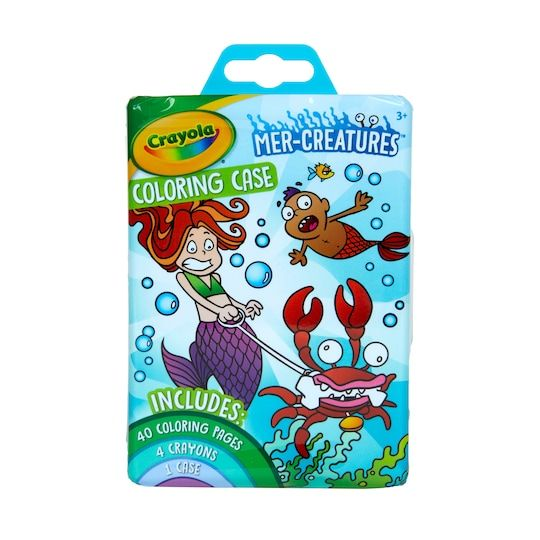 Crayola Mer Creatures Coloring Case Michaels Crayola Creative Skills Coloring Books