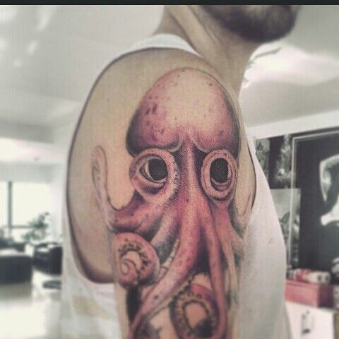 Mi #tattoo #john frusciante #redhotchillipeppers #octopus #fullcolors