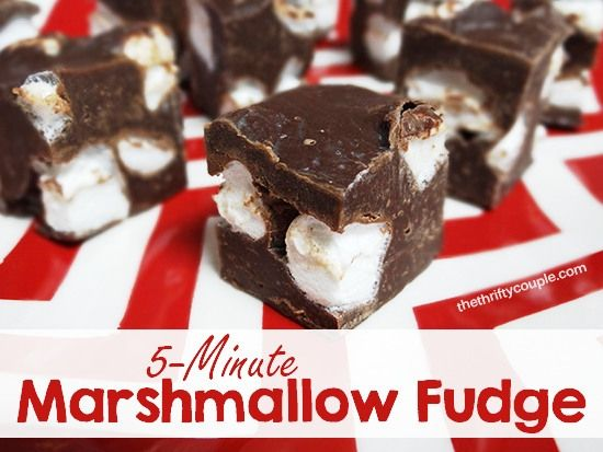5-Minute Microwave Marshmallow Fudge -  The Thrifty Couple
