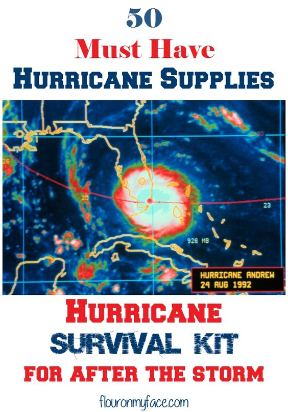 50 Must have Hurricane Supplies for after the storm via flouronmyface.com