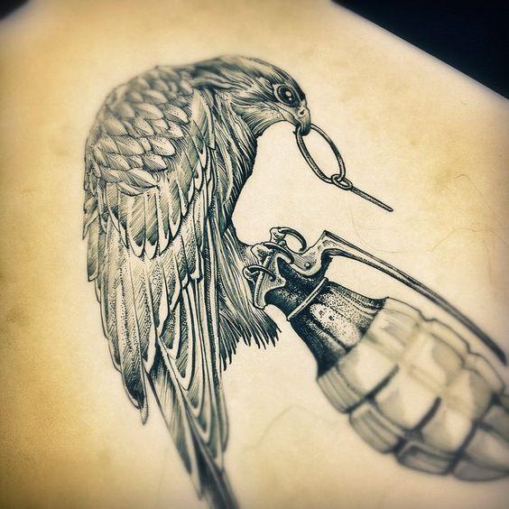 Click... BOOMM!!! #draw #drawing #desenho #dibujo #birdofprey #bird #animal #war…