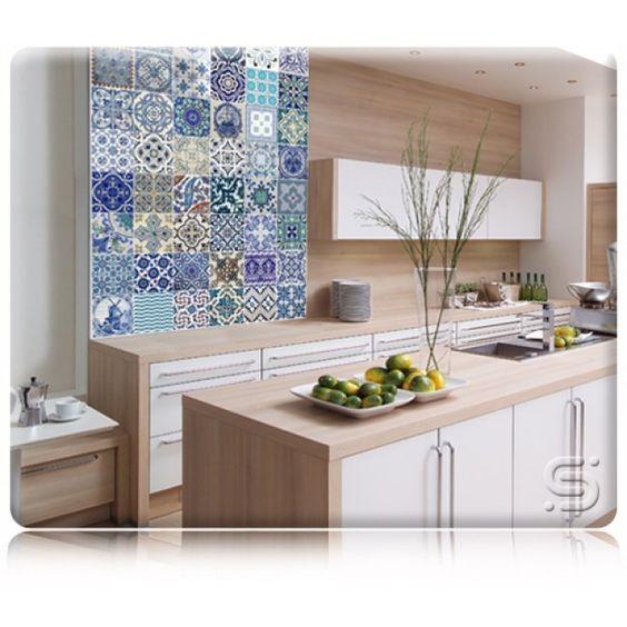 Azulejo na cozinha pequena id ias do for Nova casa azulejos