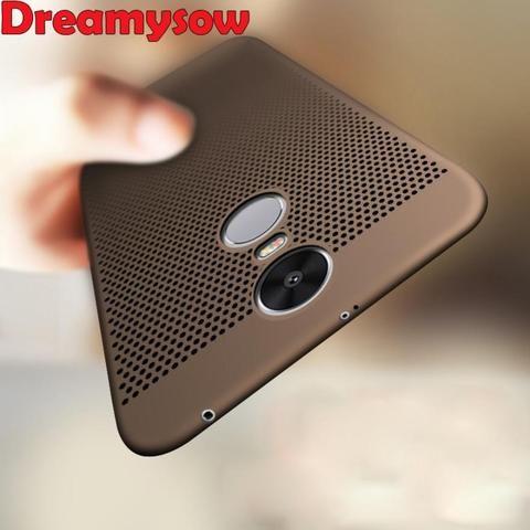 For Xiaomi Redmi 5 Pro 5a 5 Plus Note 4x 5a 4x 4 4a Case Ultra Slim Grid Heat Dissipate Case For Xiaomi Mi5x A1 Hard Pc Cover Notes Grid Gold Material