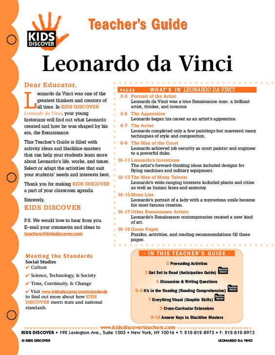 Leonardo da vinci research paper, please help?