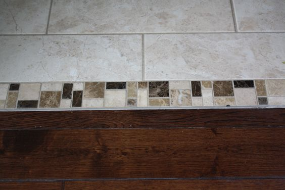 Transition Wood Floor To Tile Ideas: Guest Bathroom Tile Floor To Hallway Hardwood Transition