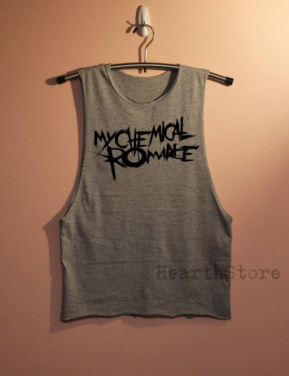 My Chemical Romance Shirt Muscle Tee Muscle Tank Top TShirt Unisex - size S M L by HearthStore on Etsy