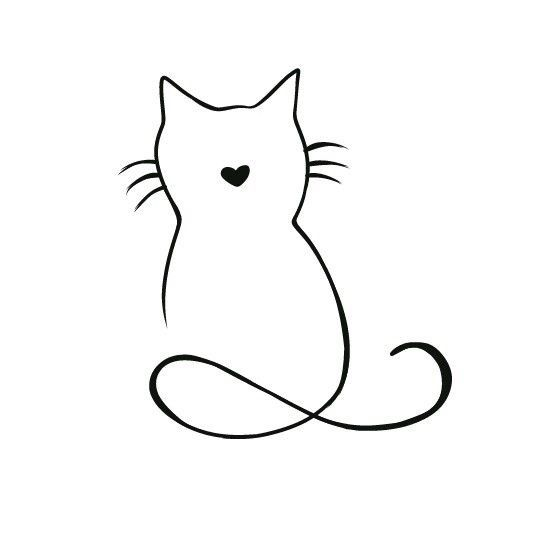 Pin By Paul Phillips On Tattoos Cat Tattoo Line Art Drawings Art Drawings Simple