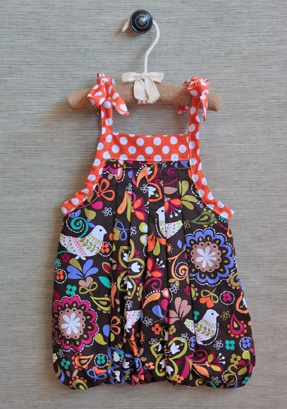Ruche // polka dotted fun design dress for the little one
