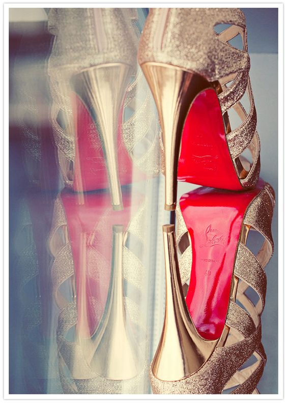We should get a pic of your wedding shoes like this with a mirror. Or yours and the bridesmaid shoes together.