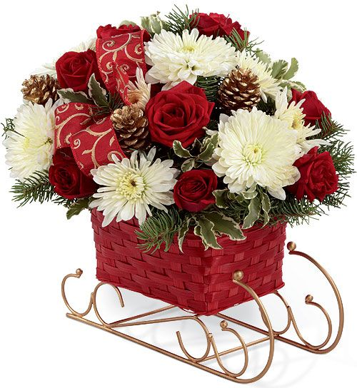 Christmas flowers flower arrangements and