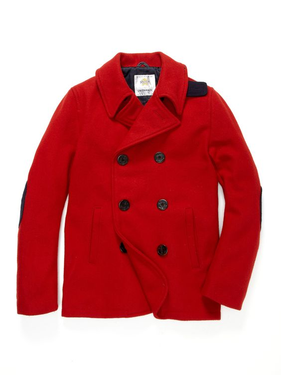 Golden Bear Bodega Peacoat by UNIONMADE. I&39m dying over this red