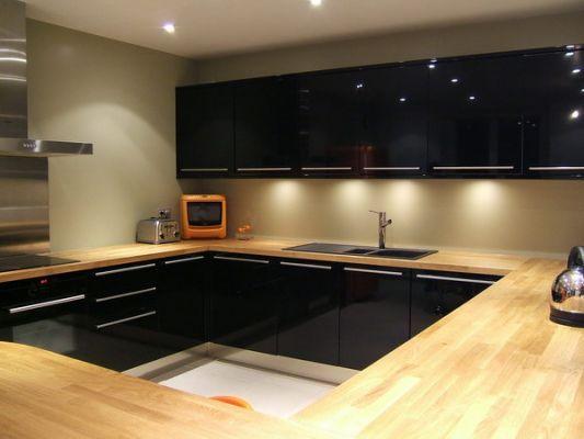 belle cuisine noir laque brico depot | Cuisine noir, Laque et Dépôt
