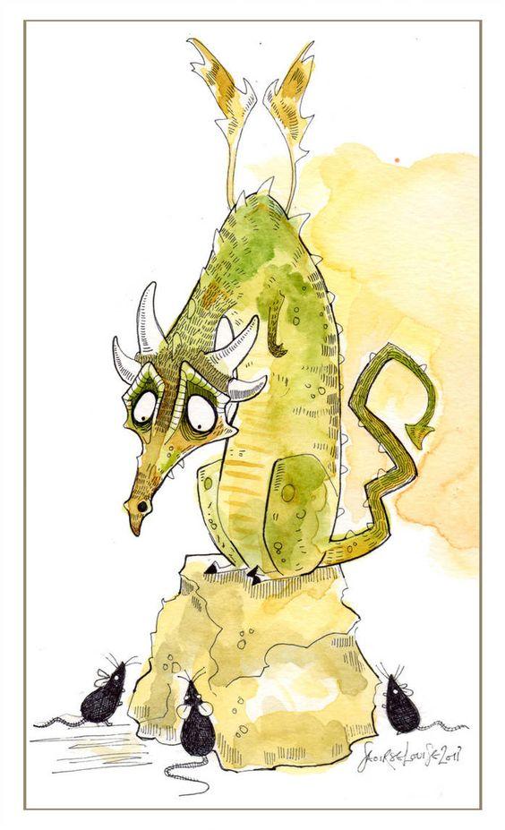 Dragon illustration by SushiLoo