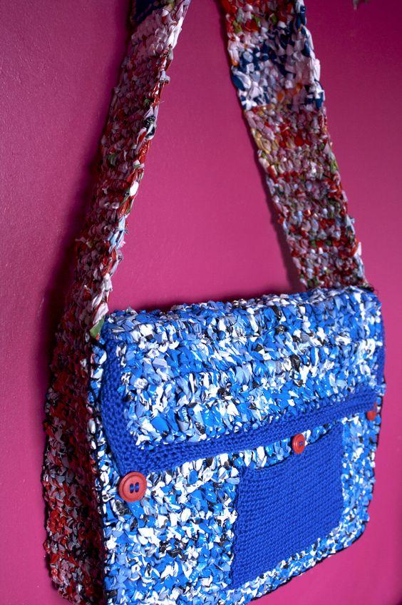 plastic bag crochet bag