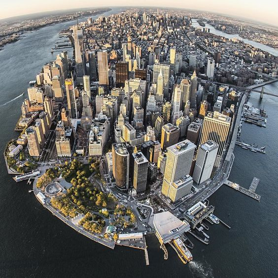NYC. Lower Manhattan from the air // by @nyonair