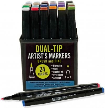 Whether you draw, paint, or craft, these markers will allow your creativity new scope! Lay down vivid, even fields of color. Quickly create beautiful, painterly artwork with no painterly cleanup after
