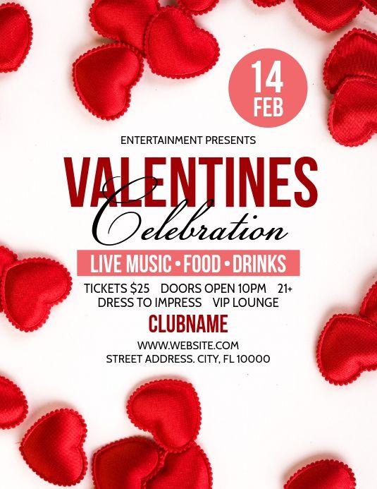 Valentines Flyers Valentines Flyer Valentine Template