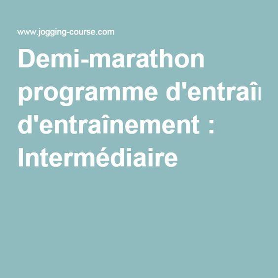 Demi-marathon programme d'entraînement : Intermédiaire