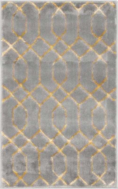 Glam Gray Area Rug Yellow Area Rugs Rugs Grey Rugs