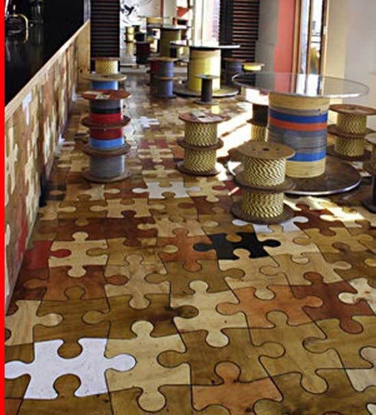 Image from for Unusual inexpensive flooring ideas